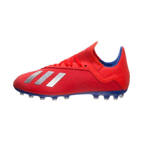 X 18.3 AG Fußballschuh Kinder, rot / blau, zoom bei OUTFITTER Online