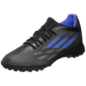 X Speedflow.3 TF Fußballschuh Herren, schwarz / blau, zoom bei OUTFITTER Online