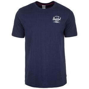 Tee T-Shirt Herren, dunkelblau / weiß, zoom bei OUTFITTER Online