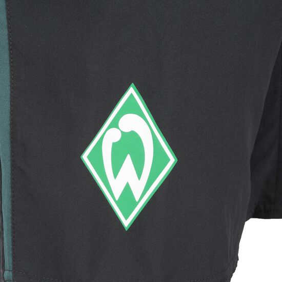 SV Werder Bremen Long Woven Trainingsshort Herren, schwarz / dunkelgrün, zoom bei OUTFITTER Online