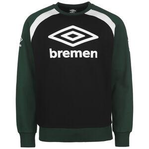 SV Werder Bremen Icon Crew Sweatshirt Herren, dunkelgrün / schwarz, zoom bei OUTFITTER Online