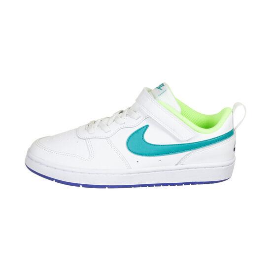 Court Borough Low Sneaker Kinder, neongrün / türkis, zoom bei OUTFITTER Online