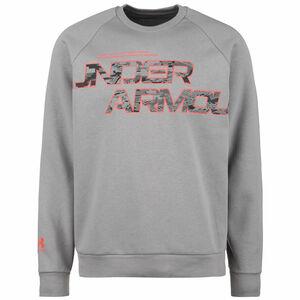 Rival Fleece Camo Script Sweatshirt Herren, grau / rot, zoom bei OUTFITTER Online
