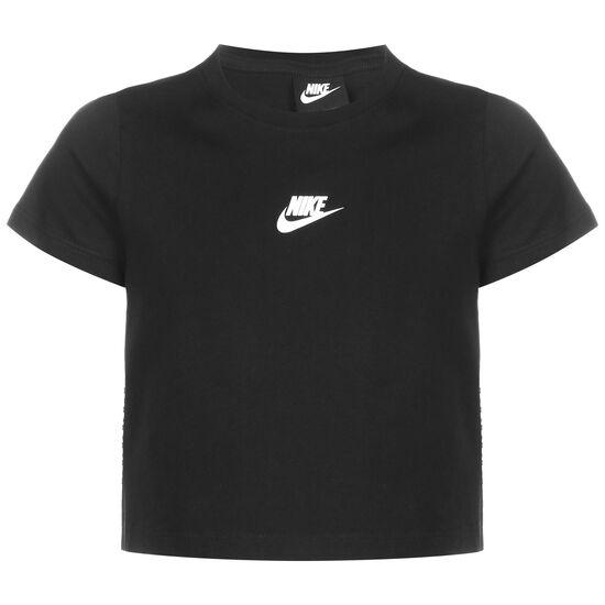 Repeat Crop T-Shirt Kinder, schwarz / weiß, zoom bei OUTFITTER Online