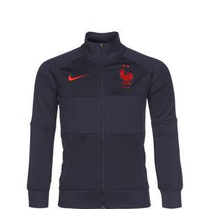 Frankreich I96 Anthem Jacke EM 2021 Kinder, blau / rot, zoom bei OUTFITTER Online