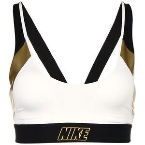 Indy Metallic Logo Sport-BH Damen, weiß / gold, zoom bei OUTFITTER Online