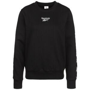 Training Essentials Tape Crew Sweatshirt Damen, schwarz / weiß, zoom bei OUTFITTER Online