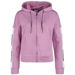 Training Essentials Linear Logo Kapuzenjacke Damen, rosa / schwarz, zoom bei OUTFITTER Online