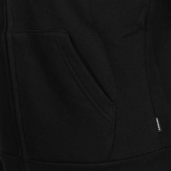Star Chevron Embossed Kapuzensweatjacke Damen, schwarz, zoom bei OUTFITTER Online
