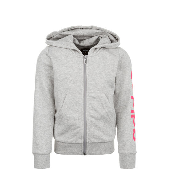 Essentials Linear Kapuzenjacke Kinder, grau / pink, zoom bei OUTFITTER Online