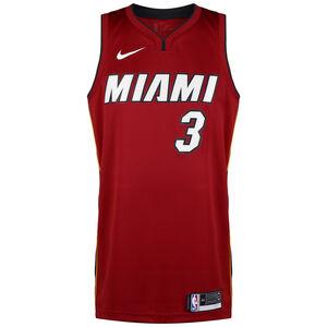 NBA Miami Heat #3 Wade Basketballtrikot Herren, rot / weiß, zoom bei OUTFITTER Online