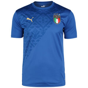 FIGC Italien Stadium Home Aufwärmshirt EM 2021 Herren, blau / gold, zoom bei OUTFITTER Online