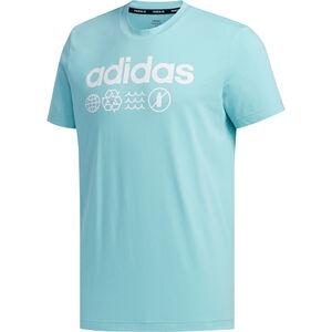 Primeblue T-Shirt Herren, hellblau / weiß, zoom bei OUTFITTER Online