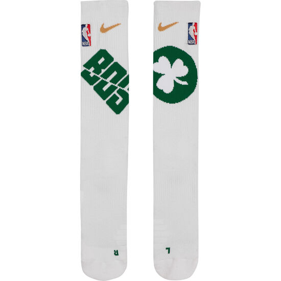 NBA Elite Crew Boston Celtics Socken, weiß / grün, zoom bei OUTFITTER Online