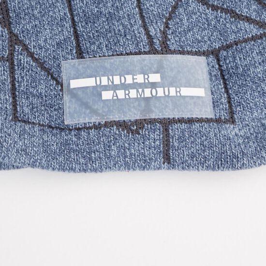 Graphic Pom Beanie Damen, blau / schwarz, zoom bei OUTFITTER Online