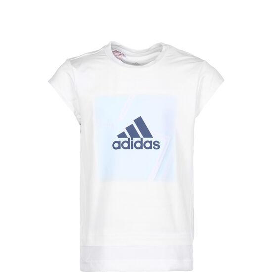 Branded Trainingsshirt Kinder, weiß / hellblau, zoom bei OUTFITTER Online