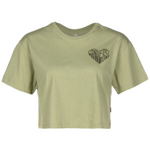 Left Chest Heart Cropped T-Shirt Damen, oliv, zoom bei OUTFITTER Online