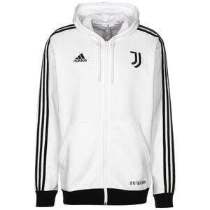 Juventus Turin 3-Streifen Kapuzenjacke Herren, weiß / schwarz, zoom bei OUTFITTER Online