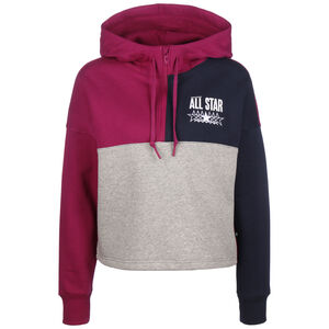 All Star Brushed Fleede Hoodie Damen, weinrot / grau, zoom bei OUTFITTER Online