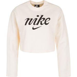 Cropped Crew Sweatshirt Damen, weiß / schwarz, zoom bei OUTFITTER Online