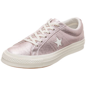 Cons One Star Metallic Leather OX Sneaker, Pink, zoom bei OUTFITTER Online