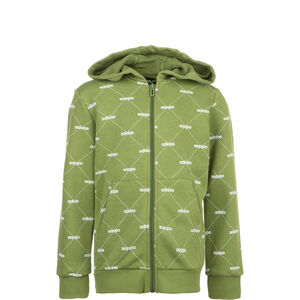 Coverup Kapuzenjacke Kinder, oliv / weiß, zoom bei OUTFITTER Online