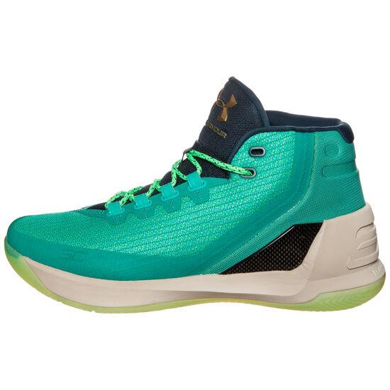 Curry 3 Basketballschuh Herren, Türkis, zoom bei OUTFITTER Online