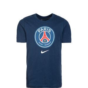 Paris Saint-Germain Evergreen Crest T-Shirt Kinder, dunkelblau, zoom bei OUTFITTER Online