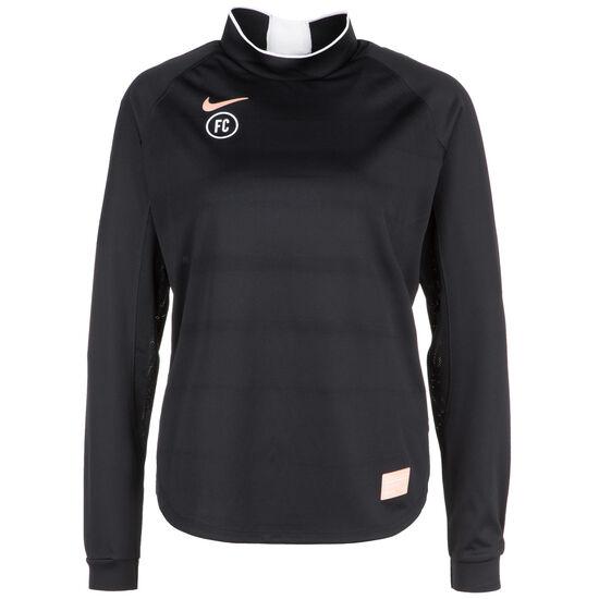 F.C. Dry Langarm Fußballtrikot Damen, schwarz / rosé gold, zoom bei OUTFITTER Online