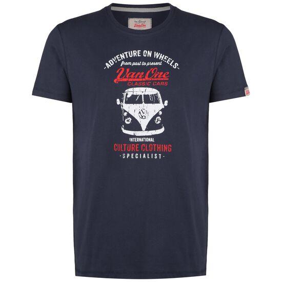 Bulli Front T-Shirt Herren, dunkelblau / weiß, zoom bei OUTFITTER Online