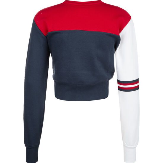 Ballino Umana Cropped Sweatshirt Damen, dunkelblau / rot, zoom bei OUTFITTER Online