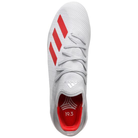 X 19.3 Indoor Fußballschuh Herren, silber / rot, zoom bei OUTFITTER Online