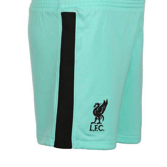 FC Liverpool Short Away Stadium 2020/2021 Kinder, türkis / schwarz, zoom bei OUTFITTER Online