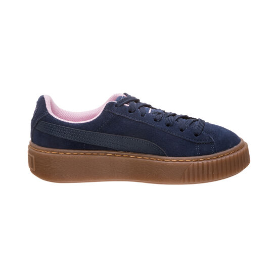 Suede Platform Radicals Sneaker Kinder, dunkelblau / rosa, zoom bei OUTFITTER Online