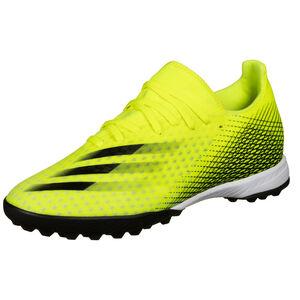 X Ghosted.3 TF Fußballschuh Herren, neongelb / blau, zoom bei OUTFITTER Online