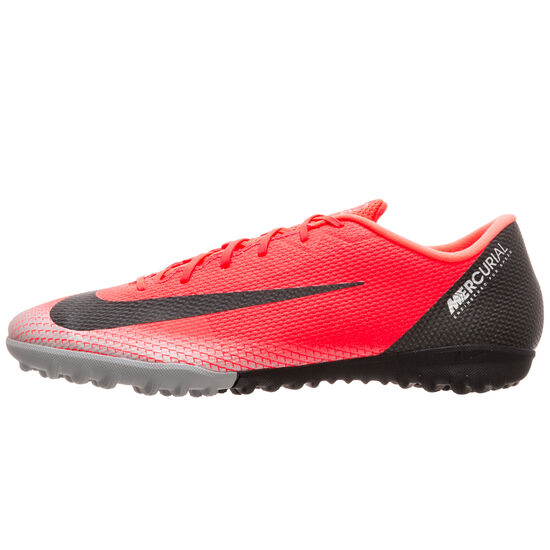 Mercurial VaporX XII Academy CR7 TF Fußballschuh Herren, neonrot / schwarz, zoom bei OUTFITTER Online