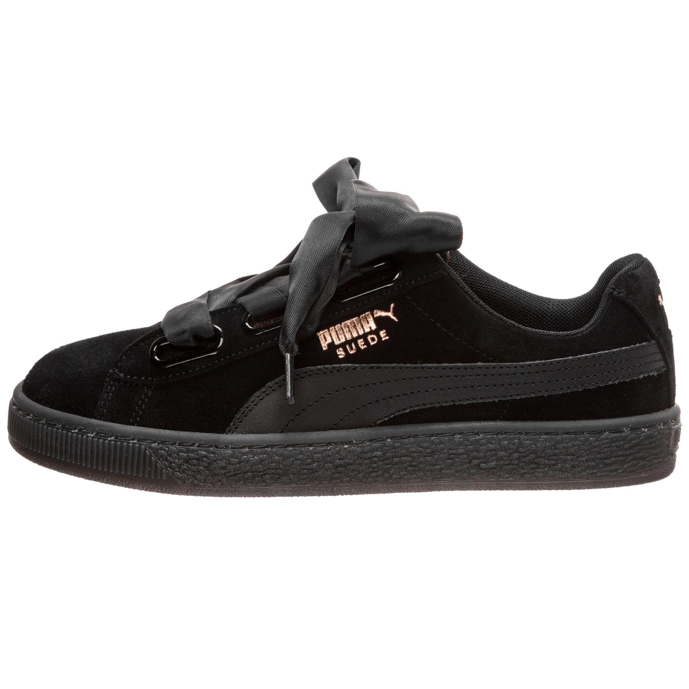 Puma Suede Heart Artica Sneaker für Damen Schwarz