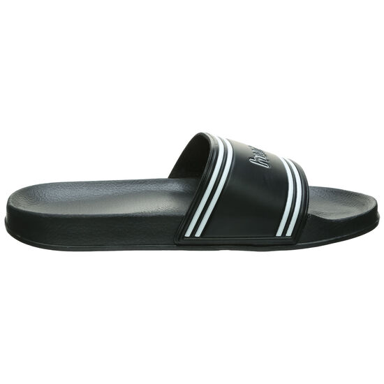 Pool Slide Retro Badesandale, schwarz, zoom bei OUTFITTER Online