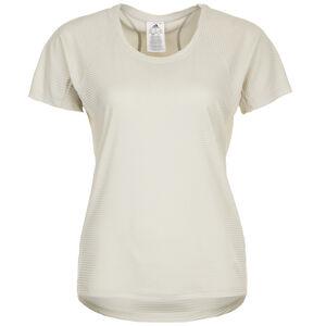 Jacquard Trainingsshirt Damen, beige, zoom bei OUTFITTER Online