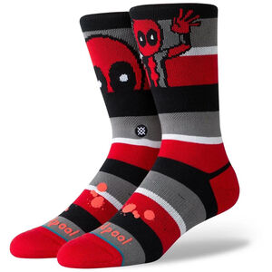 Deadpool Stripe Socken, dunkelrot / rot, zoom bei OUTFITTER Online