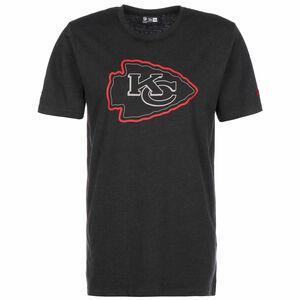 NFL Kansas City Chiefs Outline Logo T-Shirt Herren, anthrazit / rot, zoom bei OUTFITTER Online