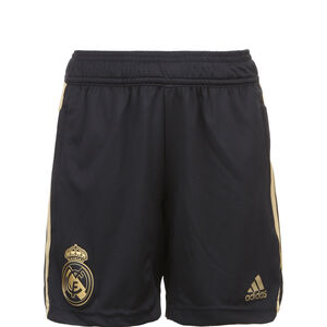 Real Madrid Trainingsshort Kinder, schwarz / gold, zoom bei OUTFITTER Online