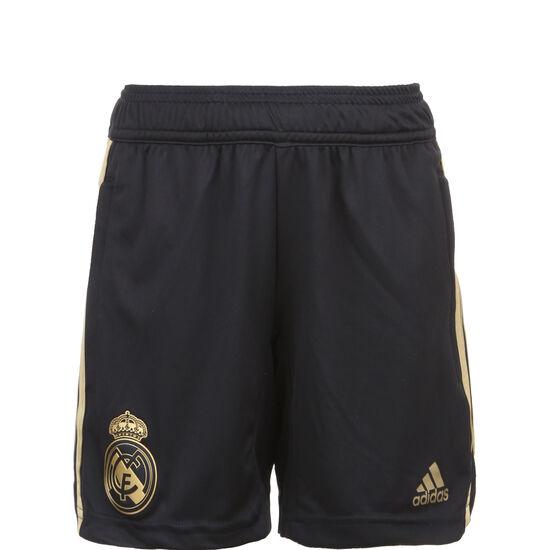 Real Madrid Trainingsshort Kinder, schwarz / gold, zoom bei OUTFITTER Online