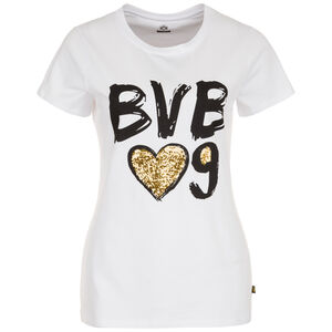 Borussia Dortmund T-Shirt Damen, weiß, zoom bei OUTFITTER Online