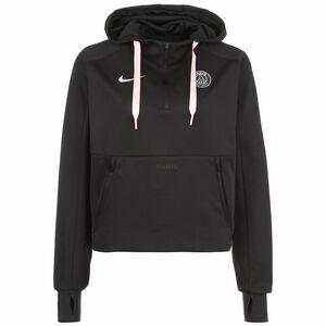 Paris St.-Germain Travel Fleece Midlayer Kapuzenpullover Damen, schwarz / rosa, zoom bei OUTFITTER Online