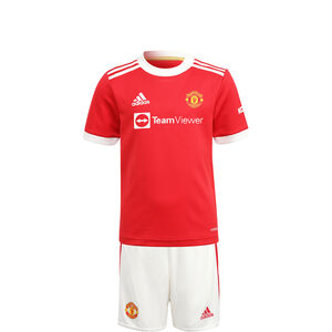 Manchester United Minikit Home 2021/2022 Kleinkinder, rot / weiß, zoom bei OUTFITTER Online