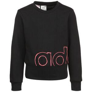 Logo Crew Sweatshirt Kinder, schwarz / korall, zoom bei OUTFITTER Online