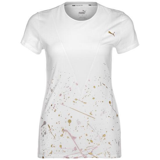 Metal Splash Deep Trainingsshirt Damen, weiß / gold, zoom bei OUTFITTER Online