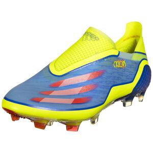 X Ghosted+ FG Fußballschuh Herren, blau / gelb, zoom bei OUTFITTER Online