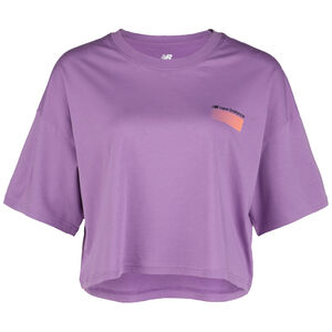 Sport Style Optiks Boxy T-Shirt Damen, lila / orange, zoom bei OUTFITTER Online